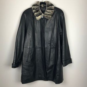 Vintage Real leather and fur jacket
